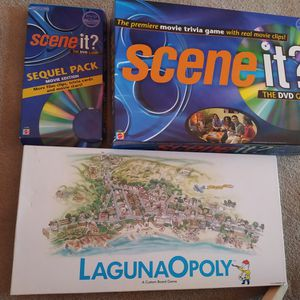 Scene It Trivia Games + special Monopoly. Complete. All $10 for Sale in Allen, TX
