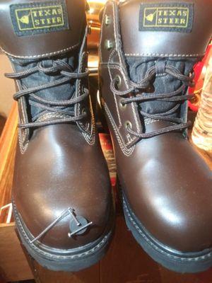 Steel toe boots botas tobillo de acero tamanio 10 1/2 us 29.5mx for Sale in El Paso, TX