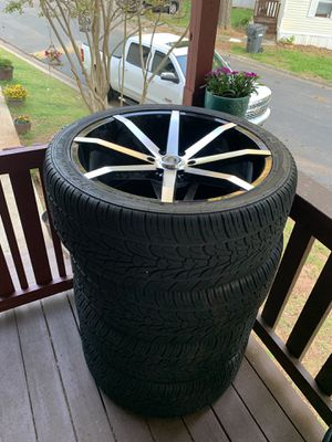 """24"""" rims and tires 6 lug for Chevy for Sale in Acworth, GA"""