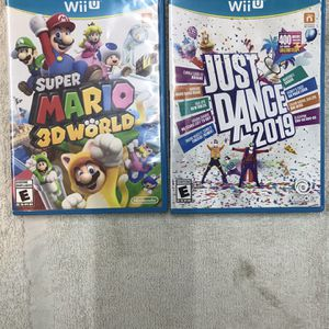 2-Wii U Games For NINTENDO (mint Condition ) for Sale in Wheaton, IL