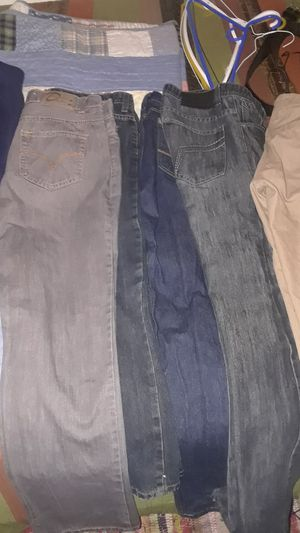 Kids Clothes: 3 pair Of Sweats, 5 Pair of Jeans,5 Burgundy Uniform Shirts for Sale in Los Angeles, CA