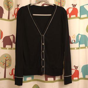 Men Luxury Fashion Black Cardigan Knit Top Size M for Sale in Falls Church, VA