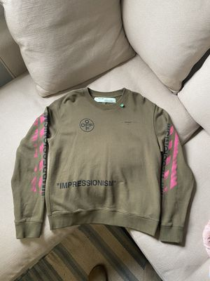 Off white Impressionism sweatshirt size L for Sale in Maple Valley, WA