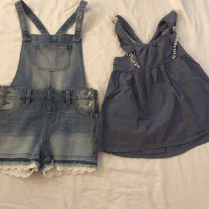 Cat and Jack Cherokee girls overalls shorts boho shirt for Sale in Fontana, CA