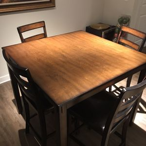 Dining Room Table - Countertop Height 4 Chairs for Sale in Brandon, FL