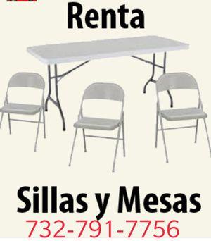 Renta de mesas y sillas for Sale in North Plainfield, NJ