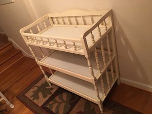Maple Wood White Painting Changing Table for Sale in Germantown, MD