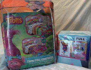 Bundle of Trolls Twin/Full Reversible Comforter Nd Full Sheet Set for Sale in Unionville, NC