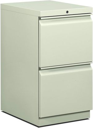 Hon 33823RS 22-7/8-inch Efficiencies Mobile Pedestal File with 2 Drawers, light gray for Sale in Alexandria, KY