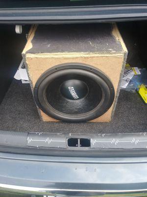 Sundown SA 15 inch sub and brand new 1000 watt audiopipe amp for Sale in Canonsburg, PA