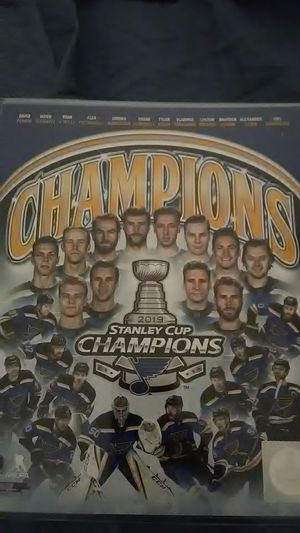 ST. LOUIS BLUES 2019 STANLEY CUP CHAMPIONSHIP TEAM for Sale in Yardley, PA