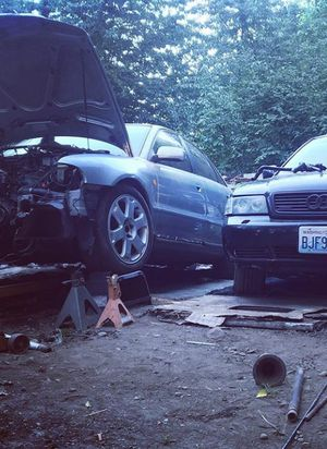 Audi b5 a4 1.8t parts and s4 wheels and tail lights. for Sale in Tacoma, WA