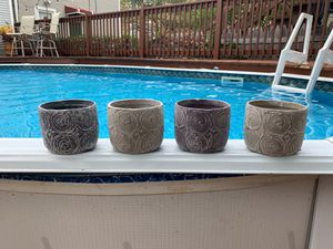 Four clay pots - great for succulents! for Sale in Chicago, IL
