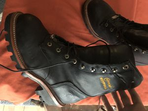 Chippewa work boots steal toe for Sale in Worcester, MA