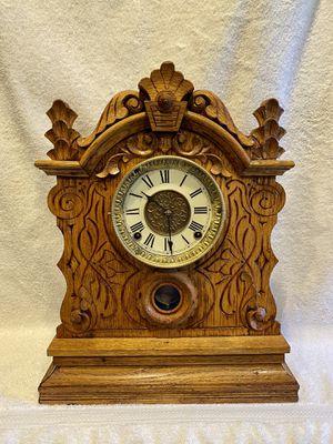 Antique golden oak Gilbert shelf Clock for Sale in Cape Coral, FL