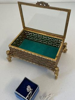 """Intricate Japanese Jewelry Box, Trojan Tie Tack, """"M"""" Brooch for Sale in Denver,  CO"""