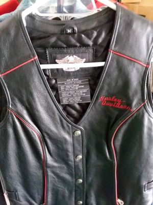 Harley Davidson leather vest women for Sale in Winchester, KY