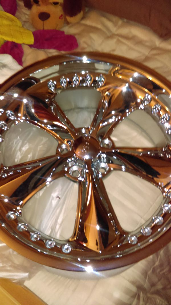 Staggered Foose Nitrious chrome mustang rims 20