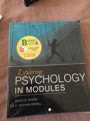 Exploring Psychology In Modules / David G Myers & C. Nathan Dewall for Sale in Philadelphia, PA