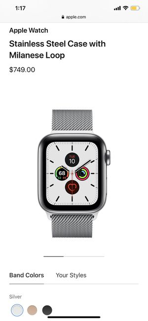 Series 5 44m stainless steel Apple Watch for Sale in Tyler, TX