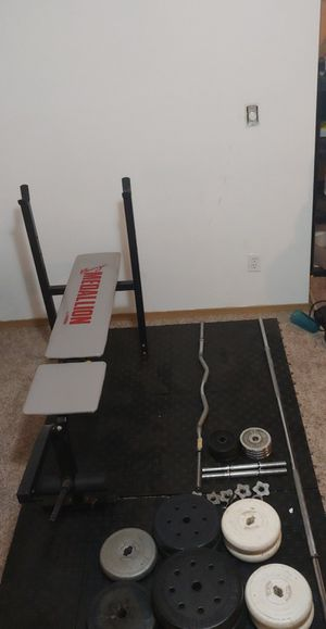 Weight bench and weights for Sale in Yelm, WA
