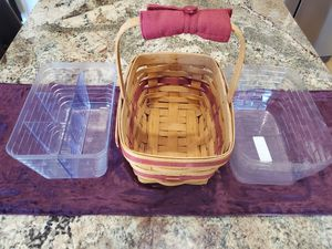1993 Longaberger Basket with Liners for Sale in Downingtown, PA