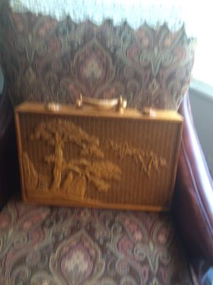 Vintage hand made carrying case teak wood pick up only$140 or best offer for Sale in San Diego, CA