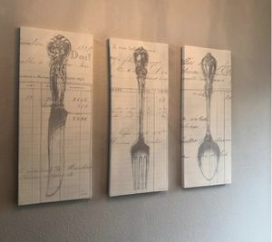Set of three Fork and Spoon and knife walk decor! for Sale in Beaverton, OR
