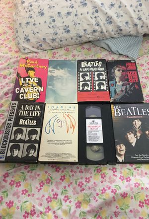 The Beatles Collection, 7 VHS, 1DVD & 1 Book for Sale in Federal Way, WA