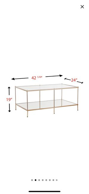 Glass and mirror coffee/cocktail table in champagne gold for Sale in Queens, NY