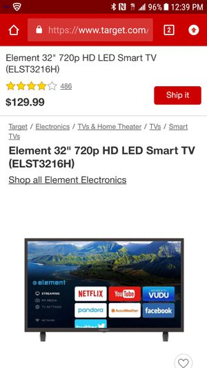 Element tv 32in for Sale in Woonsocket, RI