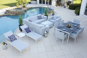 Milan 15 Piece Combination Outdoor Furniture Set Textilene - Commercial Grade for Sale in Miami, FL