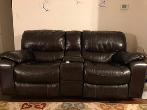 Real leather sofa and love seat for Sale in Fairfax, VA