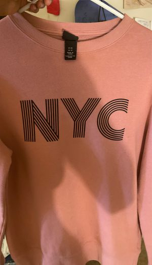 NYC salmon crew neck for Sale in Silver Spring, MD