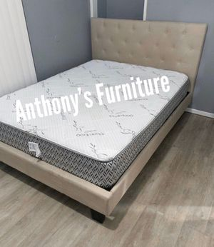 Queen bed & bamboo mattress for Sale in Whittier, CA