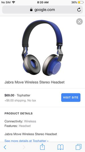 Jabra Move Bluetooth Headphones for Sale in Medford, MA