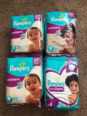 Pampers Cruisers 4 and 6 for Sale in Seattle, WA