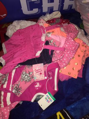 Baby girl clothes and shoes. for Sale in Taylor, WI