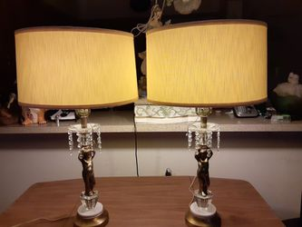 Pair Vintage Cherub Lamps Great For Bedroom (Firm) for Sale in Washington,  DC