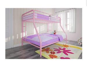 New in box! DHP twin over full bunk bed-pink for Sale in Columbus, OH