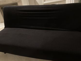Futon Couch With Black Slip cover for Sale in Newcastle,  WA