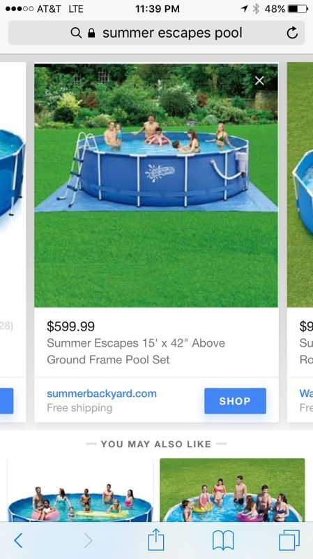 Above ground pool 15 foot