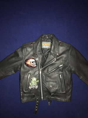 Kids Leather Motorcycle jacket - size 12 for Sale in Salt Lake City, UT