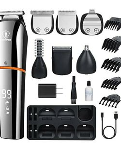 CEENWES BEARD TRIMMER FOR MEN 6 IN 1 HAIR CLIPPERS CORDLESS WATERPROOF MULTI-FUNCTIONAL GROOMING KIT USB RECHARGEABLE for Sale in Fontana,  CA