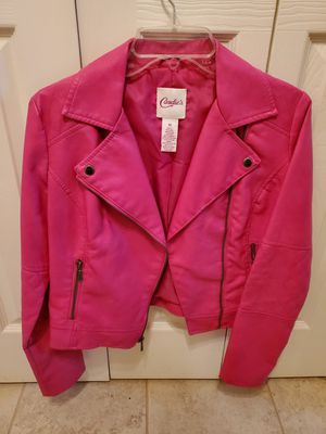 Candies hot pink leather jacket - M for Sale in Chesapeake, VA