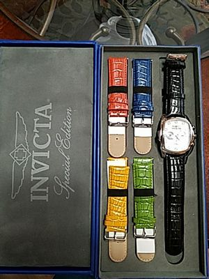 New Invicta grand lupah 5 leather bands for Sale in Gresham, OR
