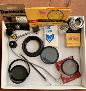 $25 BLACK FRIDAY SALE! Vintage photography/ Camera accessories. Everything in pictures is included! Sold as bulk Lot Only for Sale in Pomona, CA