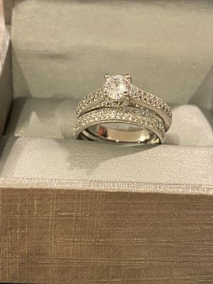 925 sterling silver Wedding/Engagement Ring Set- Multi Cut 💎 💍 for Sale in Dallas, TX