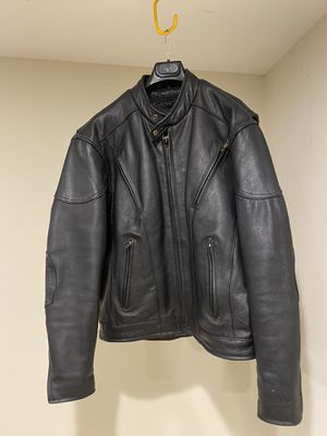 XL Genuine Leather Riding Jacket with Removable Liner for Sale in Philadelphia, PA