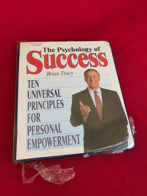Brian Tracy Psychology of success rspecseties . Never opened. Packaging torn but never opened. 6-8 tapes inside and manual for Sale in DeSoto, TX